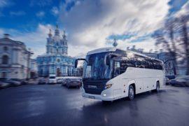Аренда автобуса с водителем в СПб / Scania Touring HD