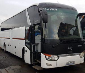 Аренда автобуса с водителем в СПб / king long 2012